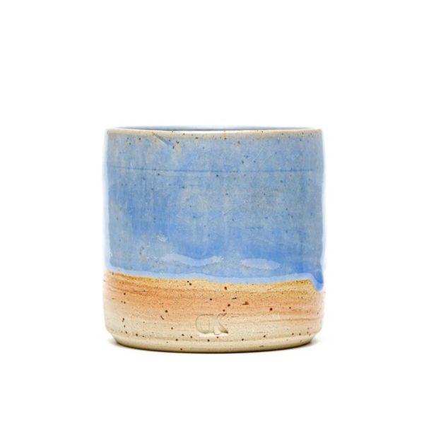 Modra skodelica brez ročaja