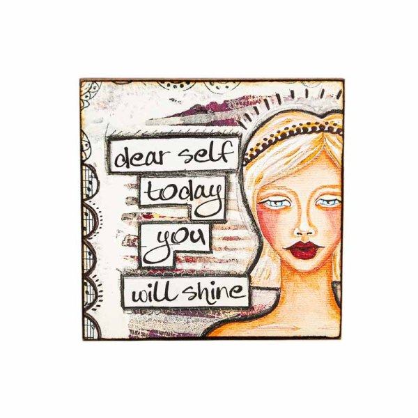 MAGNET DEAR SELF-LADY ART TALK