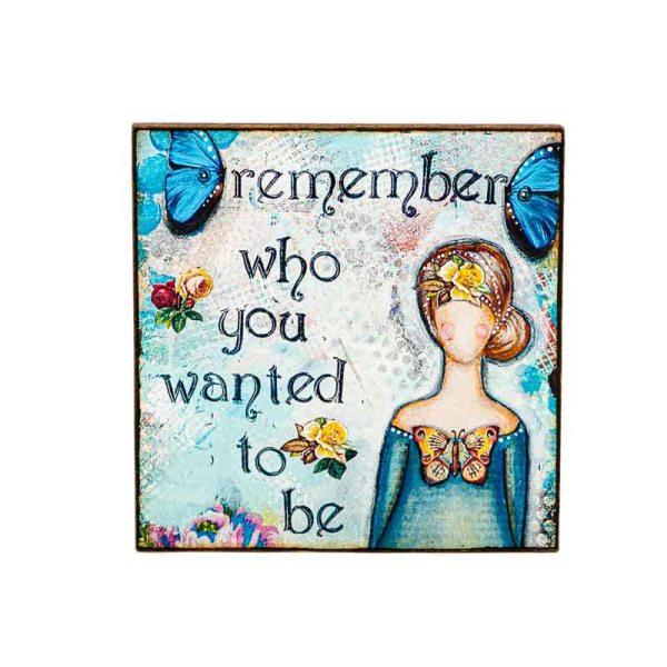 MAGNET REMEMBER-LADY ART TALK