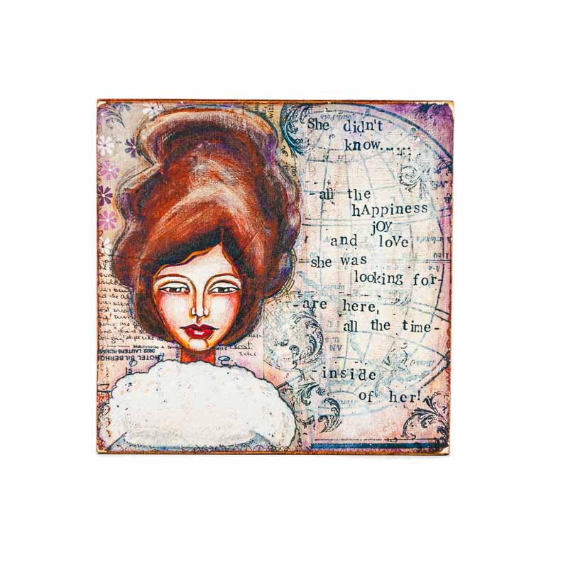 MAGNET SHE DIDNT KNOW-LADY ART TALK
