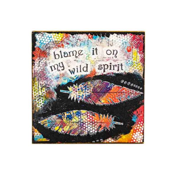MAGNET WILD SPIRIT-LADY ART TALK