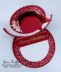 Merry Christmas with adorable hat easel card