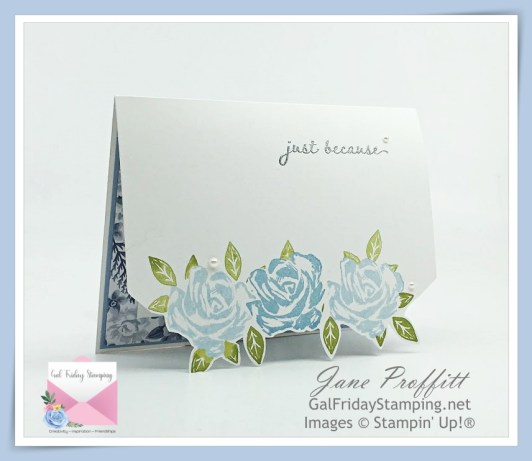 Brushed Blooms and Seaside Spray Retiring In-Color from Stampin' Up! was used in creating this card.