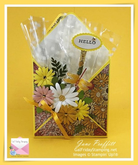 A 3D card for any occasion when you can not give flowers.