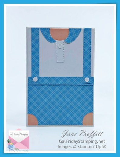 Sweet little boy card using the Handsomely Suited Suite from Stampin' Up!