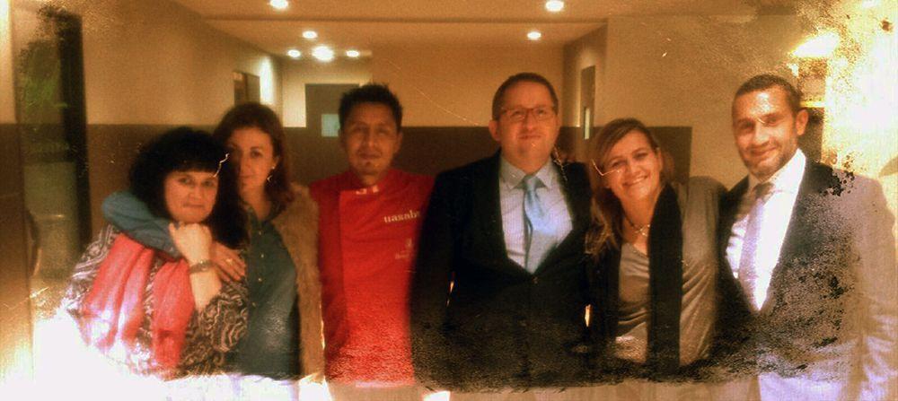 Con Helena, Abel, Víctor, Gema, Miguel y Diego ( tras la cámara ) Hotel Tres Reyes