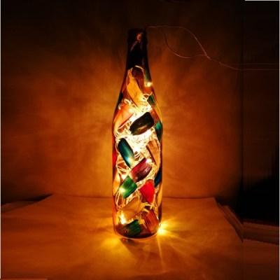 Bottle with String Lights