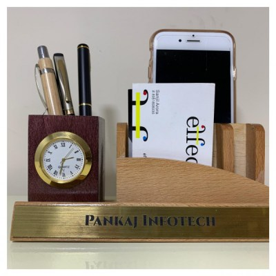 Customized Name Wooden Mobile Stand