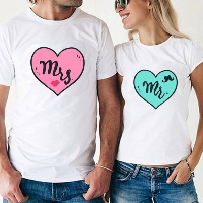 white couple t shirt