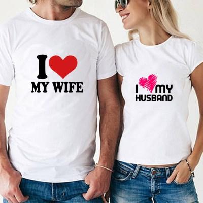 White couple T-shirt