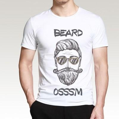 Tshirts with black beard design