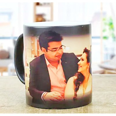 Black photo Magic mug