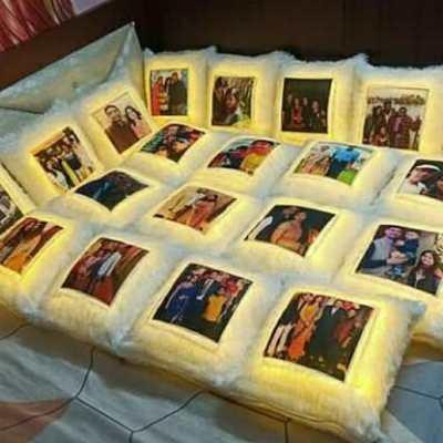 Personalized LED Photo Cushion | 16*16 Inch