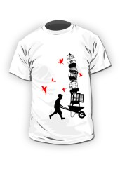 escape from the birdcage 2 - tshirt
