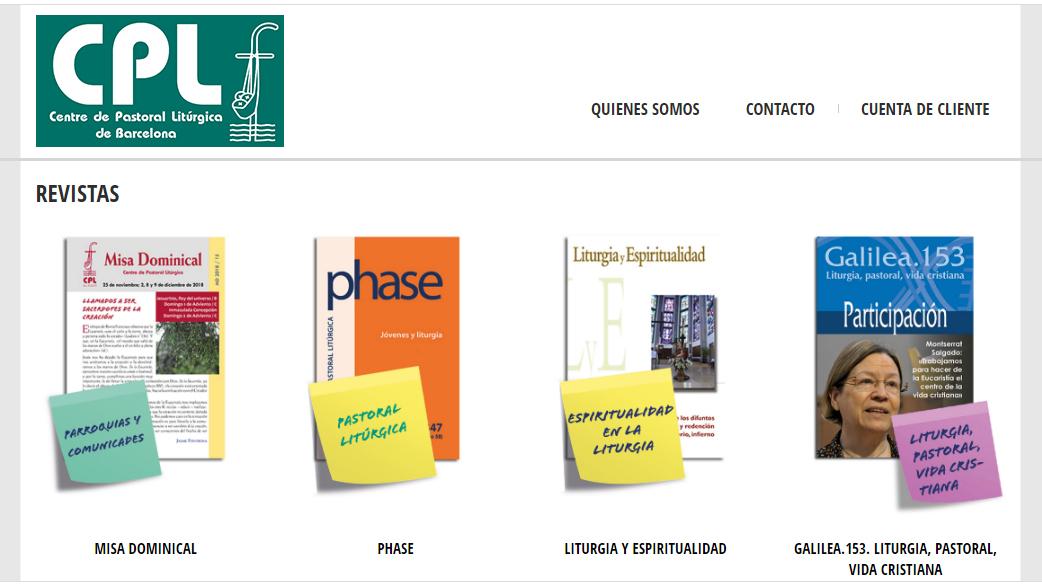 El Centre de Pastoral Litúrgica pone en abierto sus revistes en línea