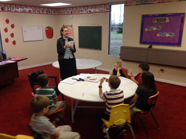 Joy teaching to Read