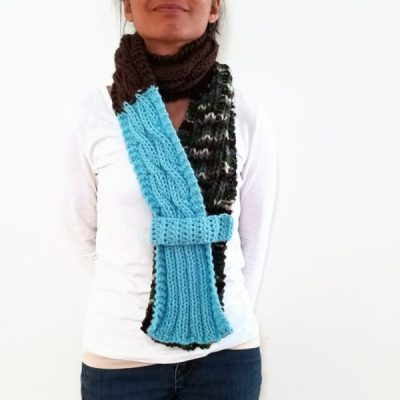 Cable Knit Scarf With Strap Vone Kevitz