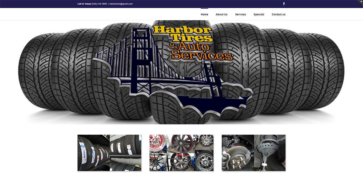 Harbor Tires website example