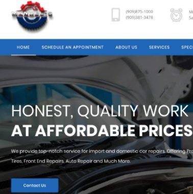 Manuel's Tires Website Sample