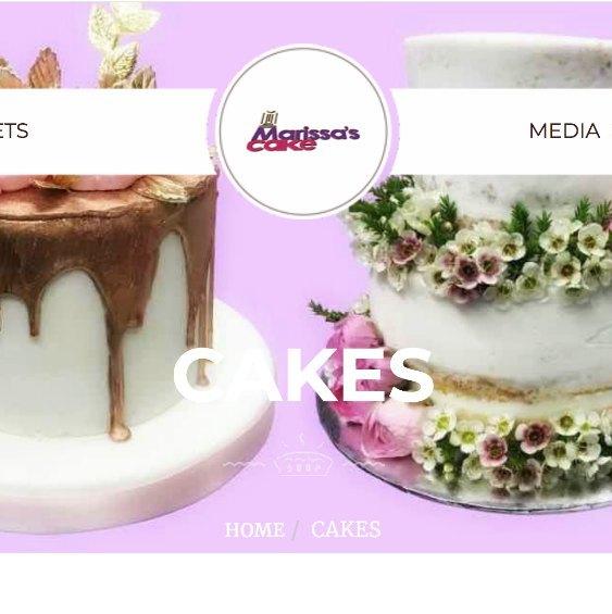 Marissa's Cake Website
