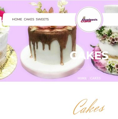 Marissa's Cake Website