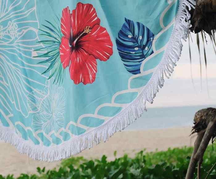 wholesale round beach towel