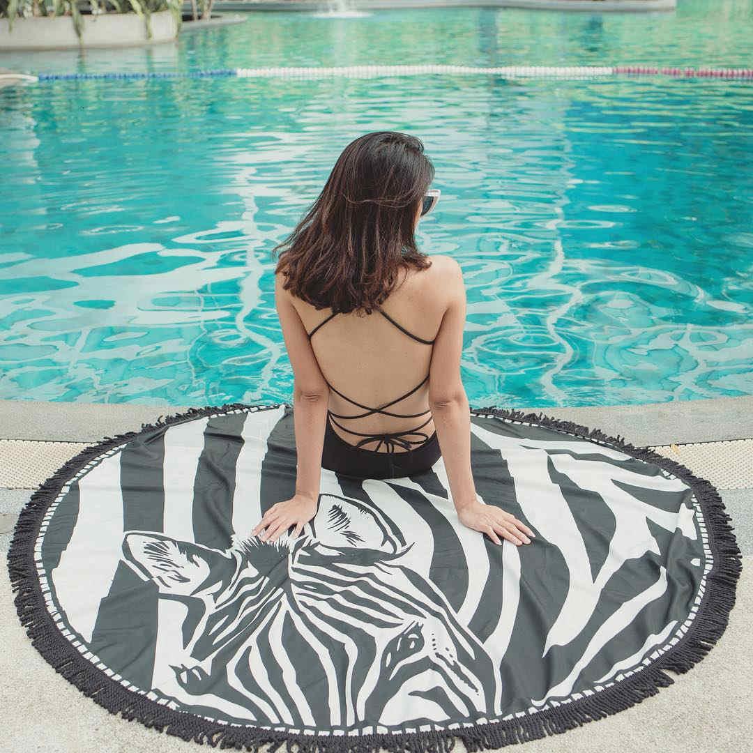 mandala Round Beach Towel