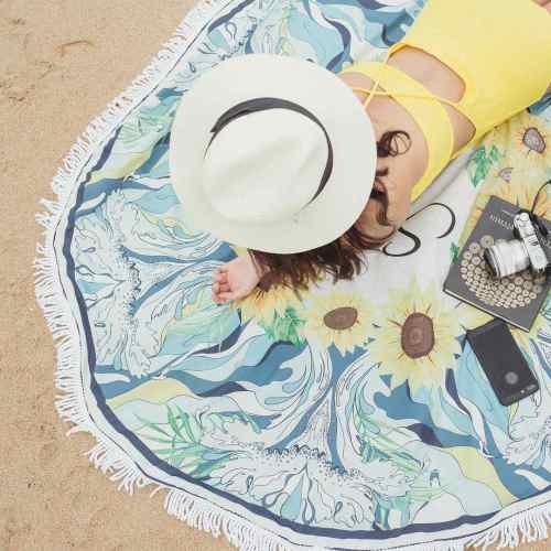 wholesale round beach towel