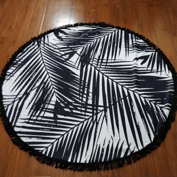 custom design durable round beach towel