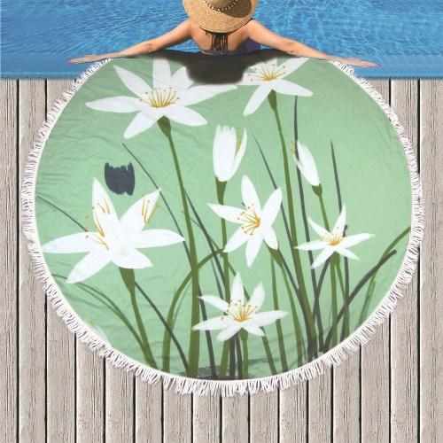 lily beach towel