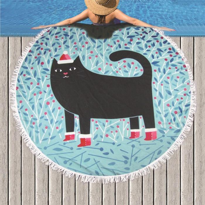Cartton Cat Beach Towel