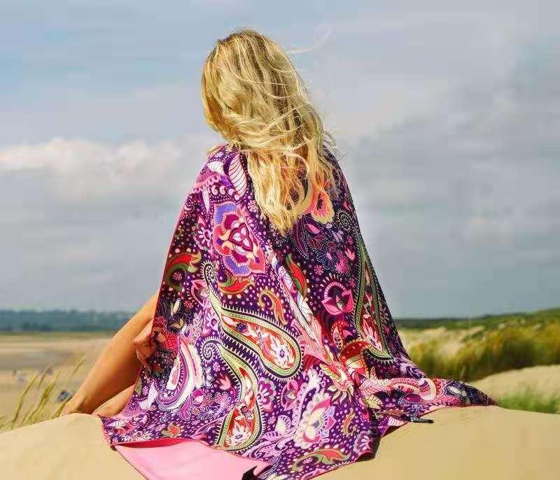 custom beach towel with pocket