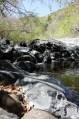 stream towards waterfall