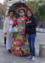 Dress made of potato chip bags