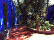 The courtyard at Casa Azul.