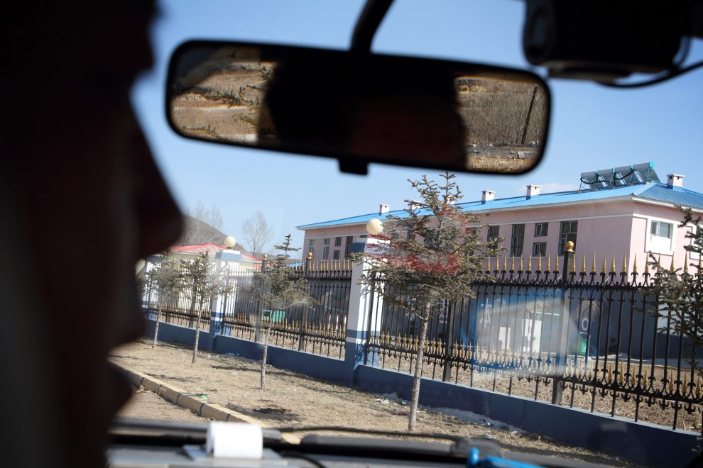 "The outside of The ""Yanbian Public Security Bureau Forced Isolation Drug Treatment Center"" , just outside the town of Yanji, close to the border with North Korea."