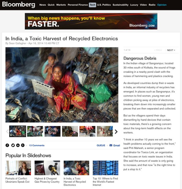 Bloomberg - E-Waste in India