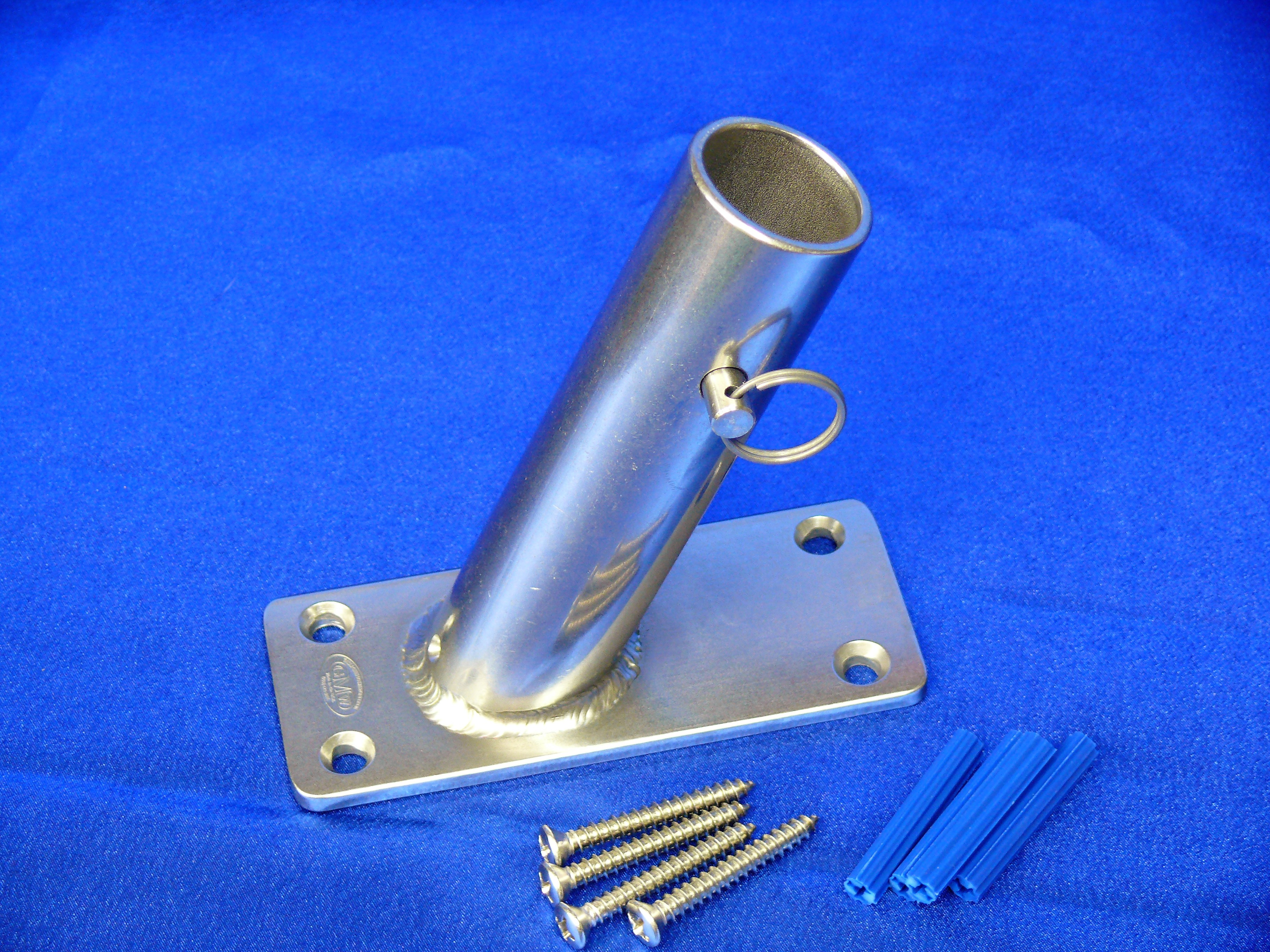 Flag Pole Holder Bracket For 1 25 Pole 22 5 Deg Hand Made In The Usa