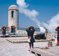Castillo de San Marcos - Cannon firing re-enactment (photo courtesy of FloridsHistoricCoast.com)