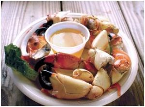 Stone crab claws dockside