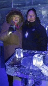 Have a drink in a ice glass in the ice bar!