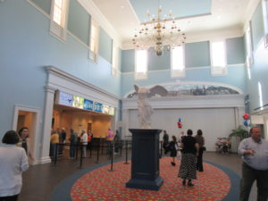 "The famous marble statue of ""Winged Victory"" greets visitors in the entrance and grand vestibule hall at the American Revolution Museumat the American Revolution Museum.. ."