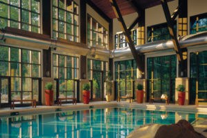 The spa pool at Woodloch in the Poconos.