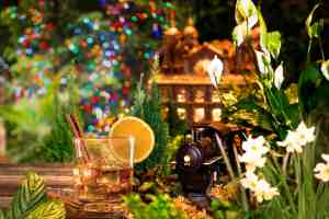 Party time at New York Botanical Garden's Holiday Train Show's Bar Car Nights