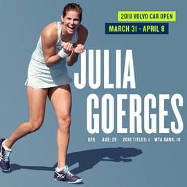 World No. 10 Julia Goerges Joins Volvo Car Open Field