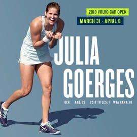 World No. 10 Julia Goerges Joins Volvo Car Open Field