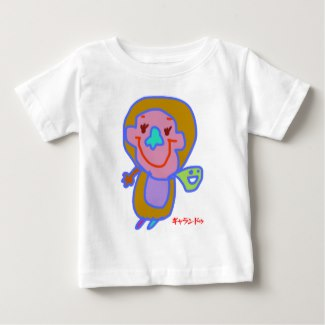 simple T-shirt 赤ちゃんゴリラネッシー ベビーTシャツ