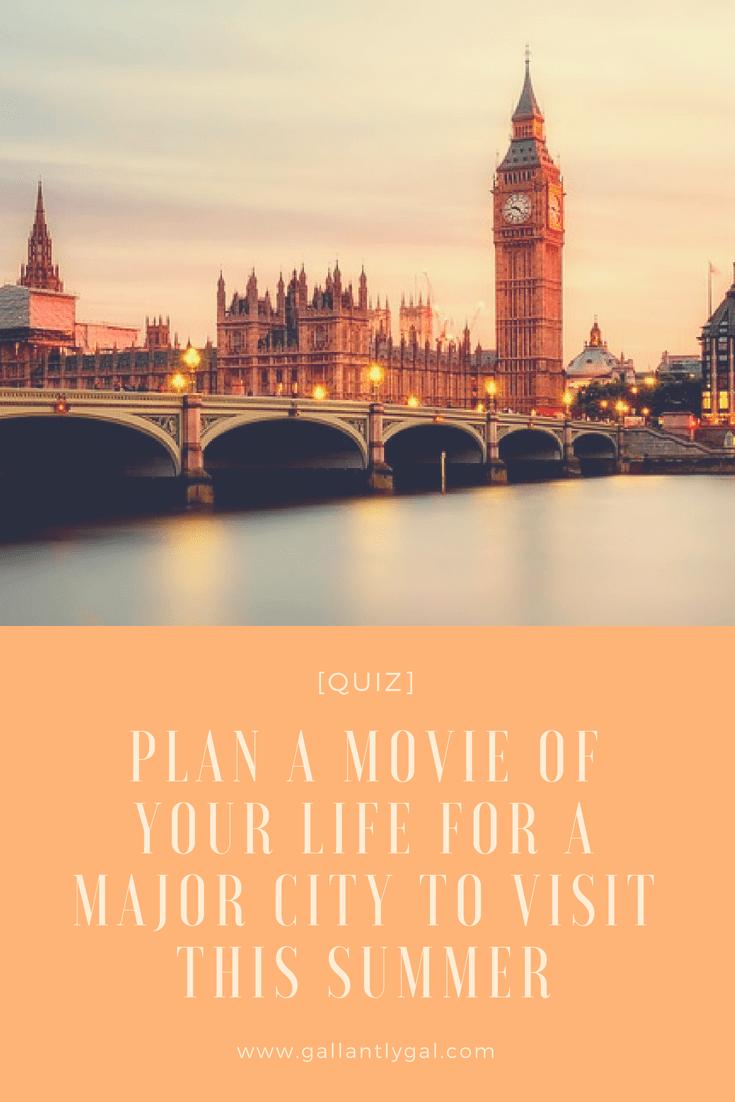 major city summer vacation quiz
