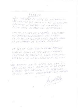 SONETO DE MIGUEL FERNANDEZ