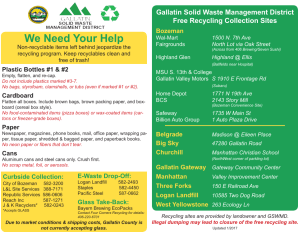 Recycling Guide - GSWMD Front
